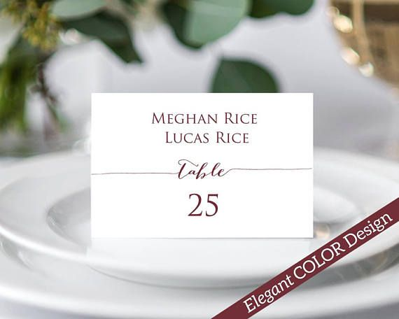 Couples place card instantly download edit and print your own place cards for weddings