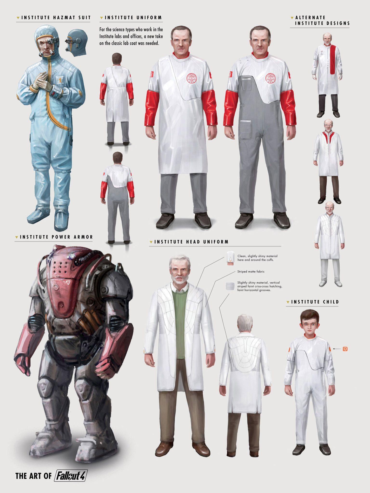 Fallout 4 Concept Institute Hazmat Suit Uniform