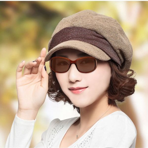 High-quality Women Spring Beret Octagonal Cap Fashion Casual Travel Thin Peaked Hat - NewChic