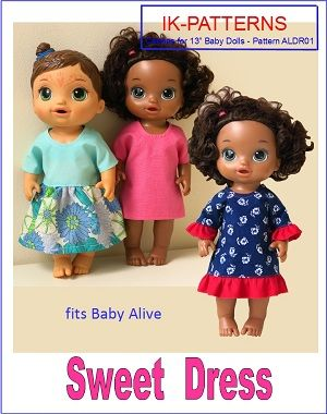 f0342b5a49 Dress Pattern for Baby Alive Doll. Baby doll clothes patterns  ikpatterns