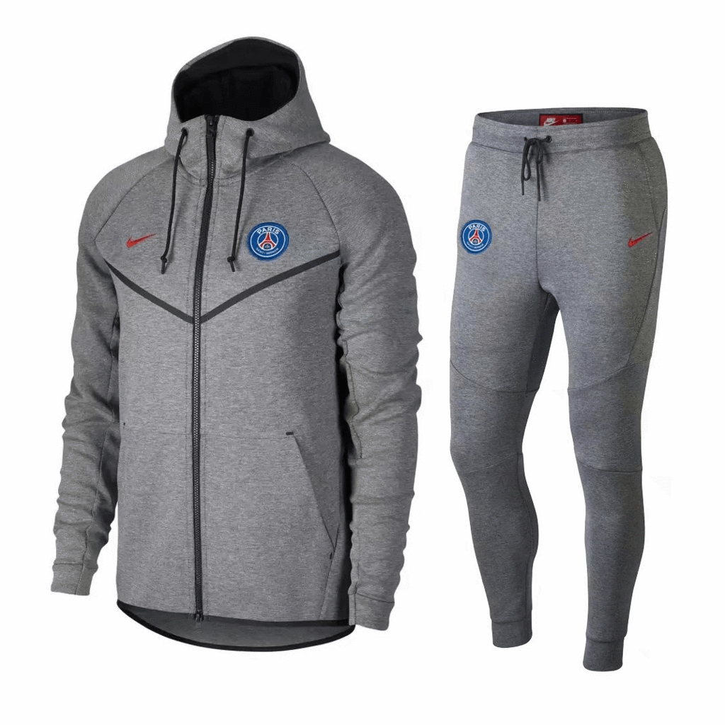 c24397245 PSG 18 19 Gray Hoodie Men Jacket Tracksuit Slim Fit – zorrojersey