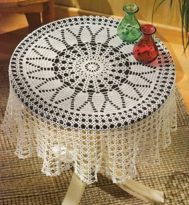 Crochet Art Tablecloth Free Pattern Beautiful Simple And Easy Diagram