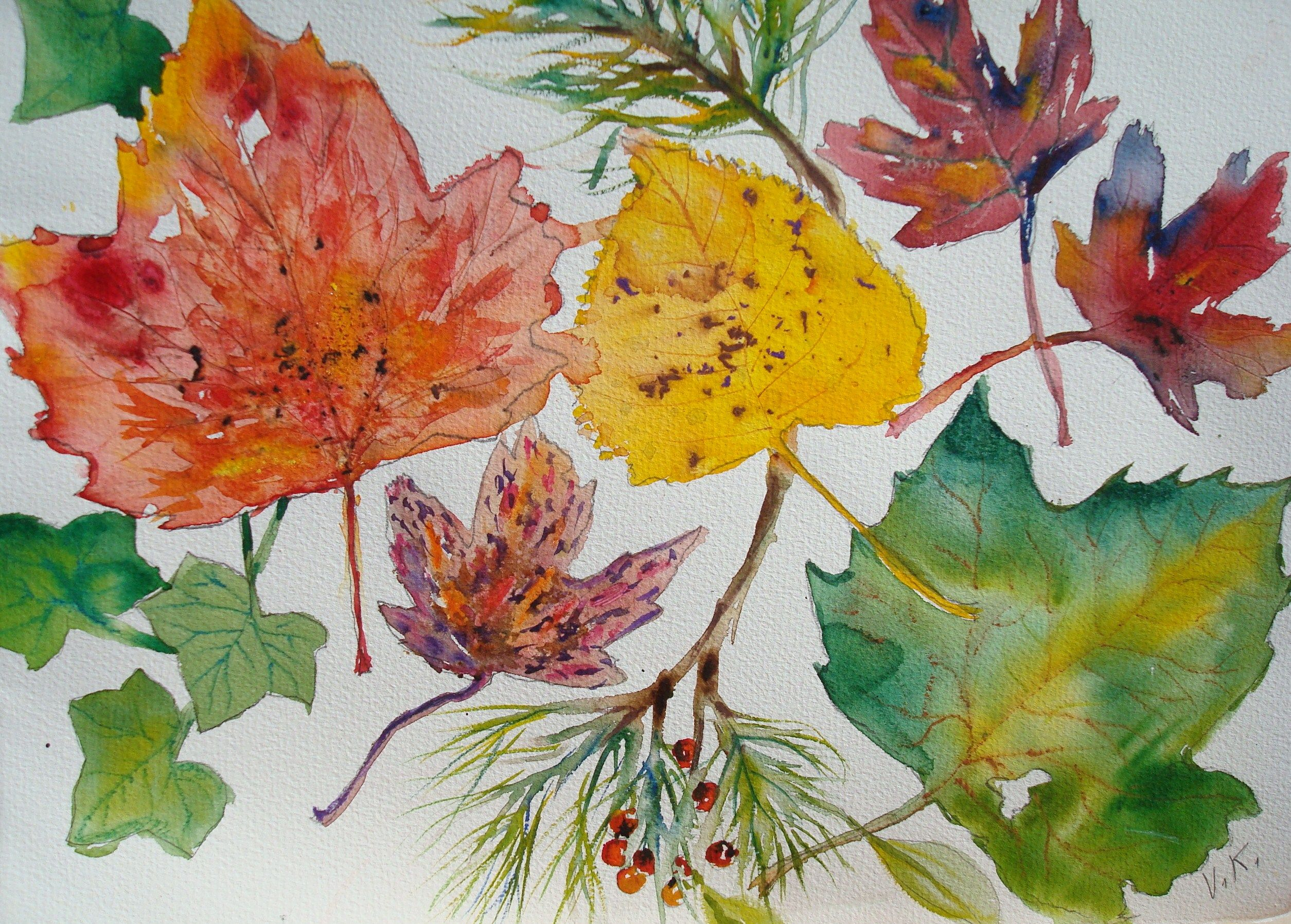 Paint Fall Leaves in Watercolor | watercolor | Watercolor