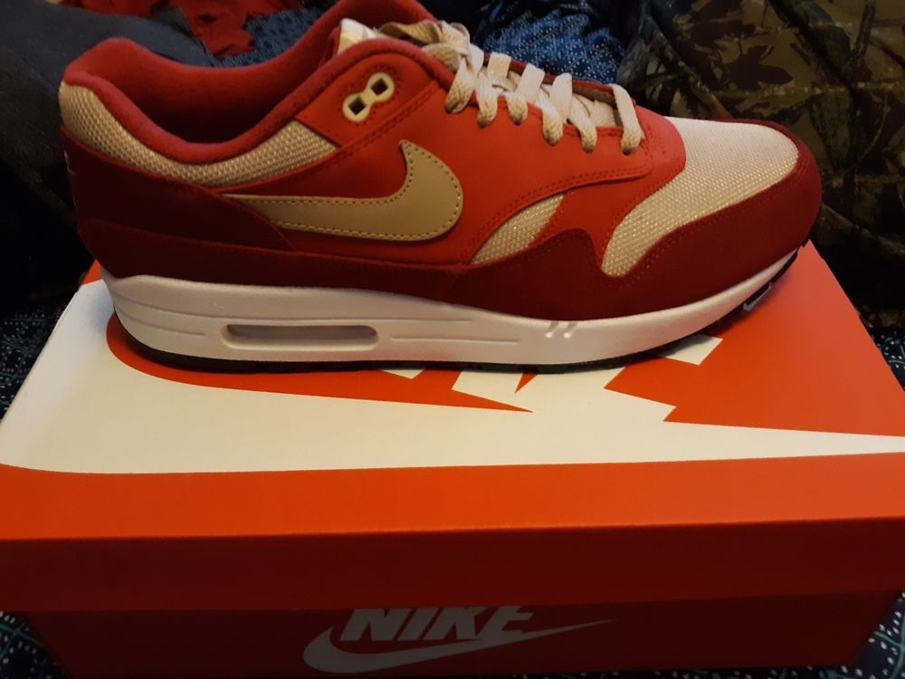 539c0cada3 Nike Air Max 1 Premium Retro Red/Mushroom-Red Men's Running Shoes 908366-600  #fashion #clothing #shoes #accessories #mensshoes #athleticshoes (ebay link)