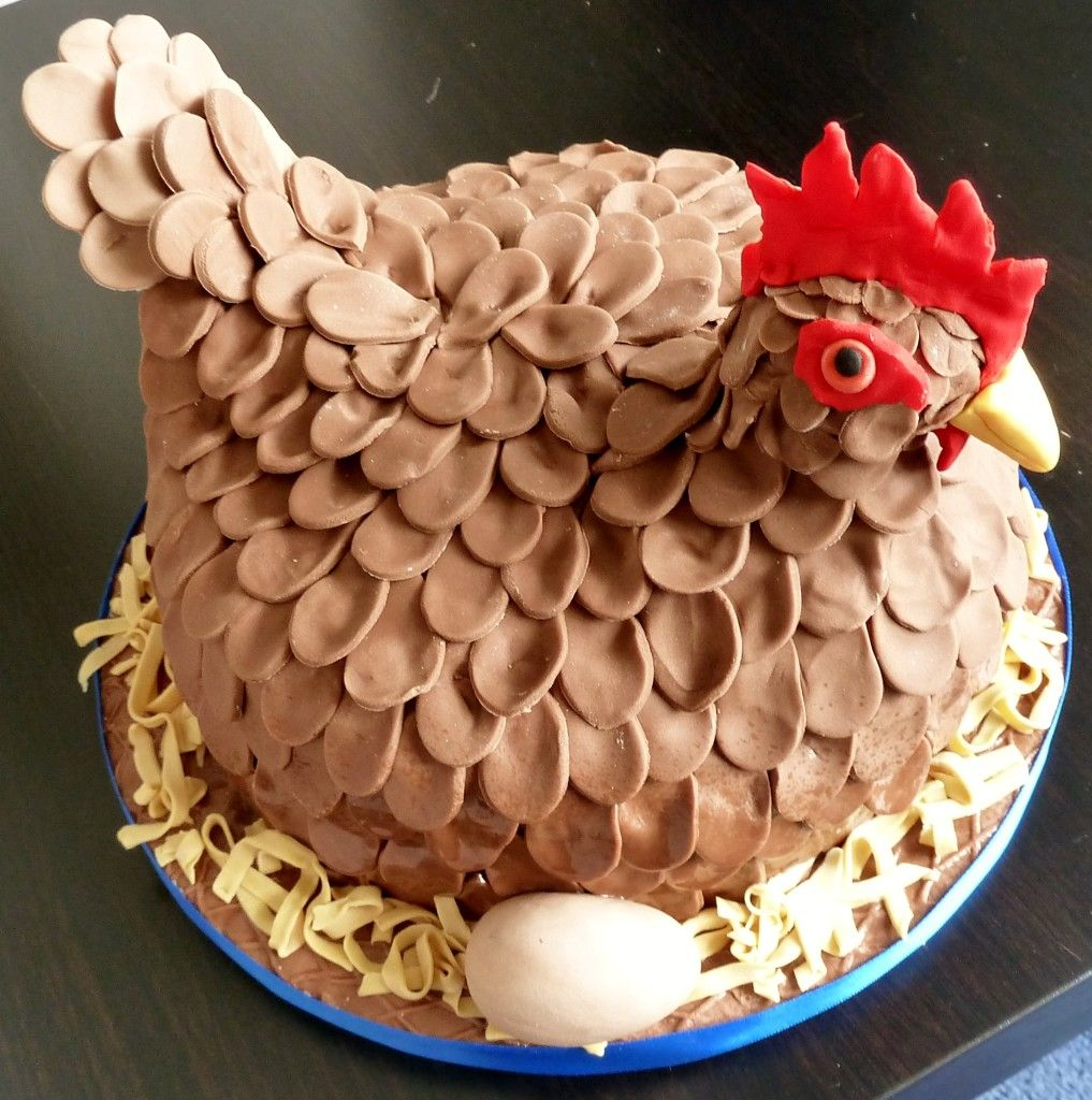 Sensational Henny Penny Cake For A Hen Do With Images Chicken Cake Easter Birthday Cards Printable Inklcafe Filternl