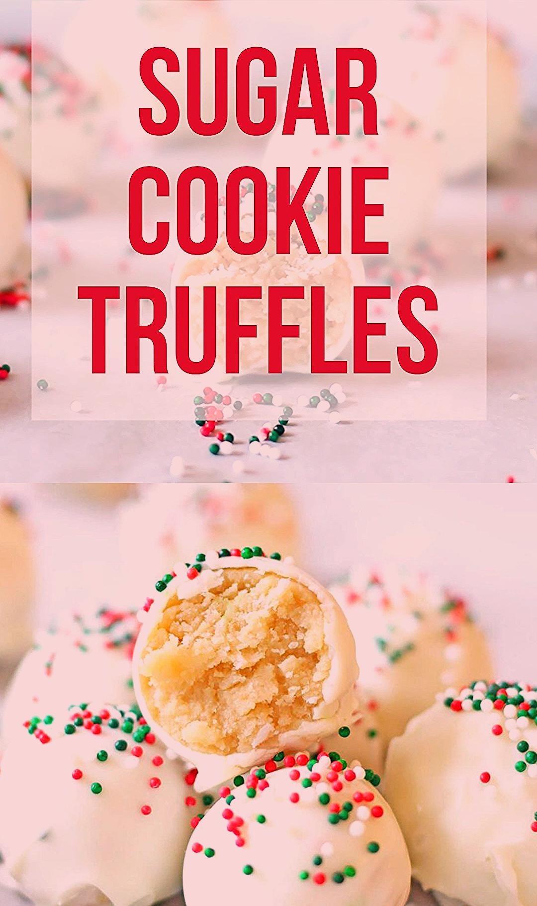 Photo of Sugar Cookie Truffles