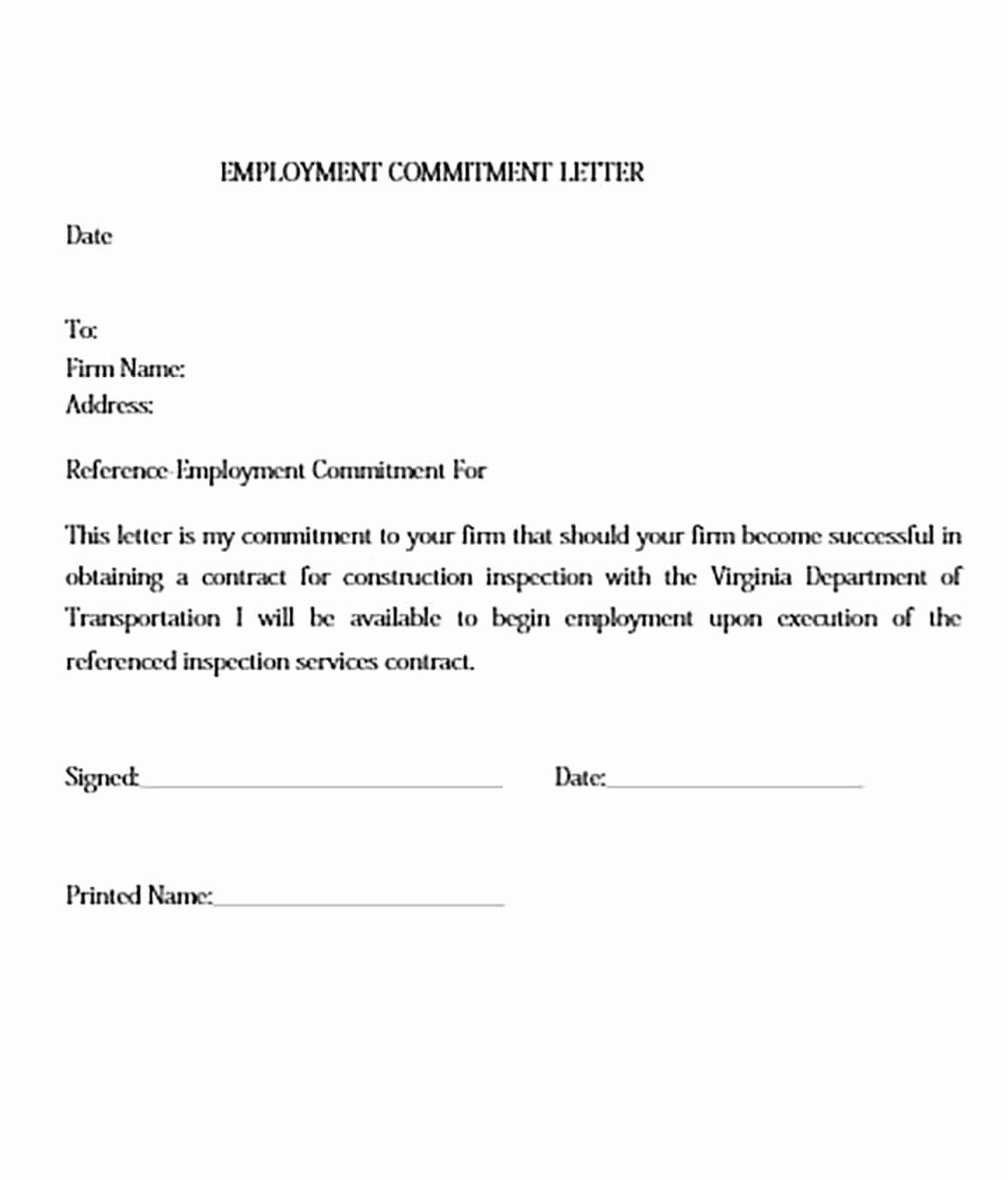 Letter Of Commitment Template Inspirational Mitment Letter And How To Make It Impressive To Read Doctors Note Template Marketing Plan Example Lettering