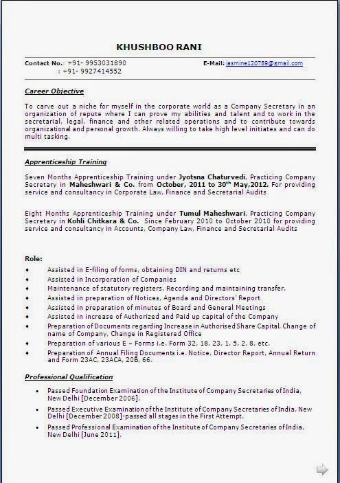 copy of a cv Sample Template Example of Excellent Curriculum Vitae - new resume format for freshers
