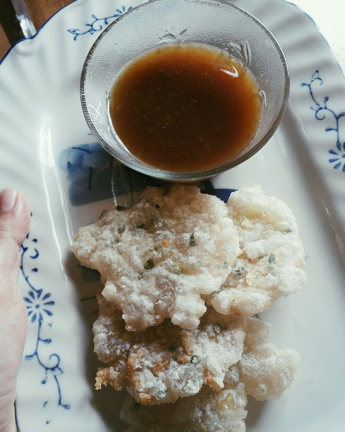 Cireng Goreng Dengan Kuah Cuko Empek Empek Makanan Dan Minuman Makanan Minuman