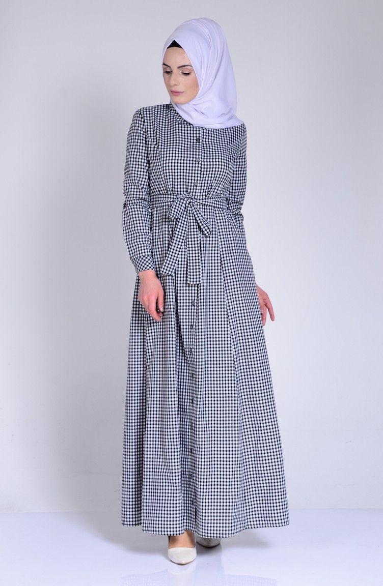 Sefamerve Tesettur Ekose Sik Gomlek Elbise Modelleri Moda Tesettur Giyim Elbise Modelleri Gomlek Elbise Elbise