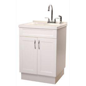 Transform Abs White Composite Utility Tub Utility Sink