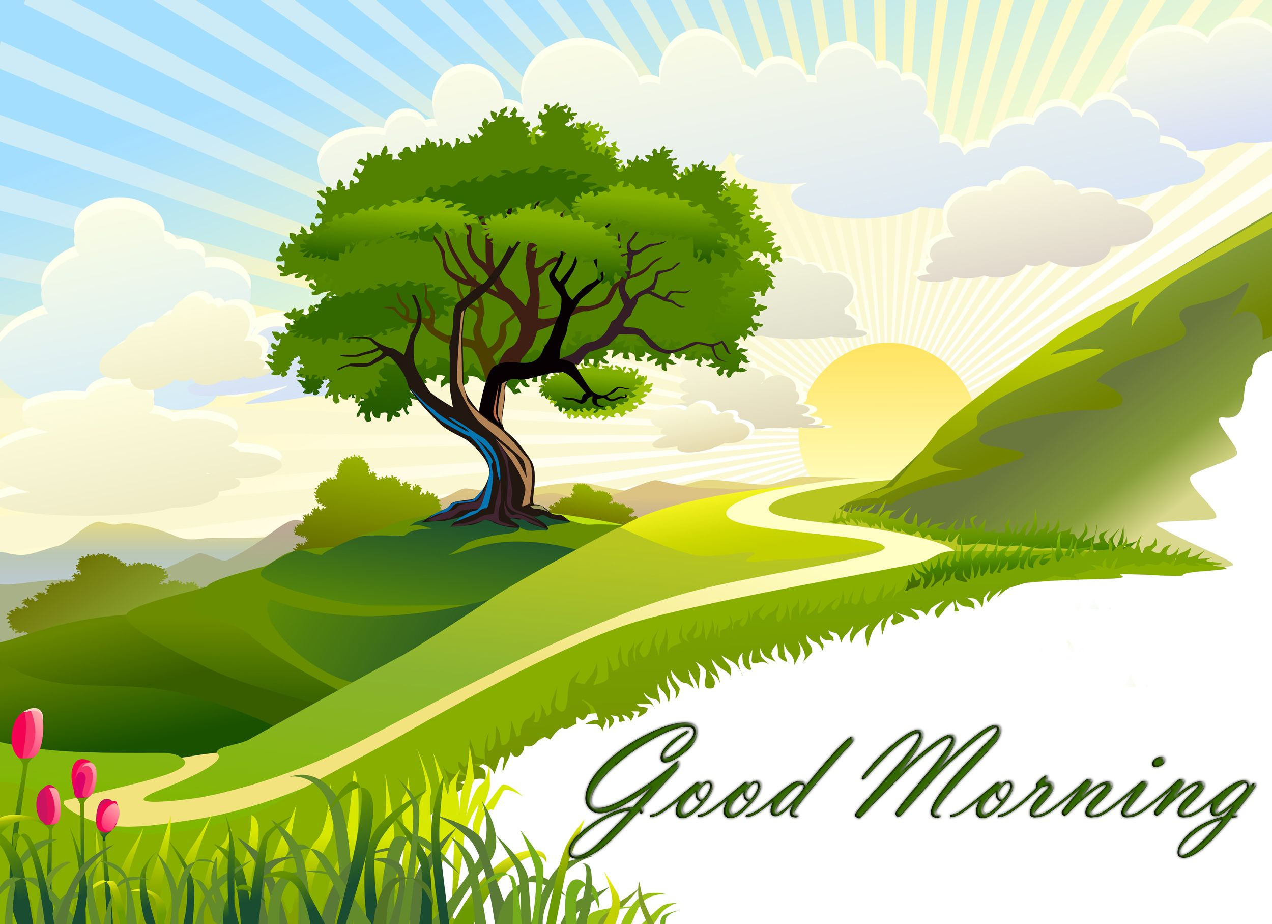 nature good morning animated wallpaper