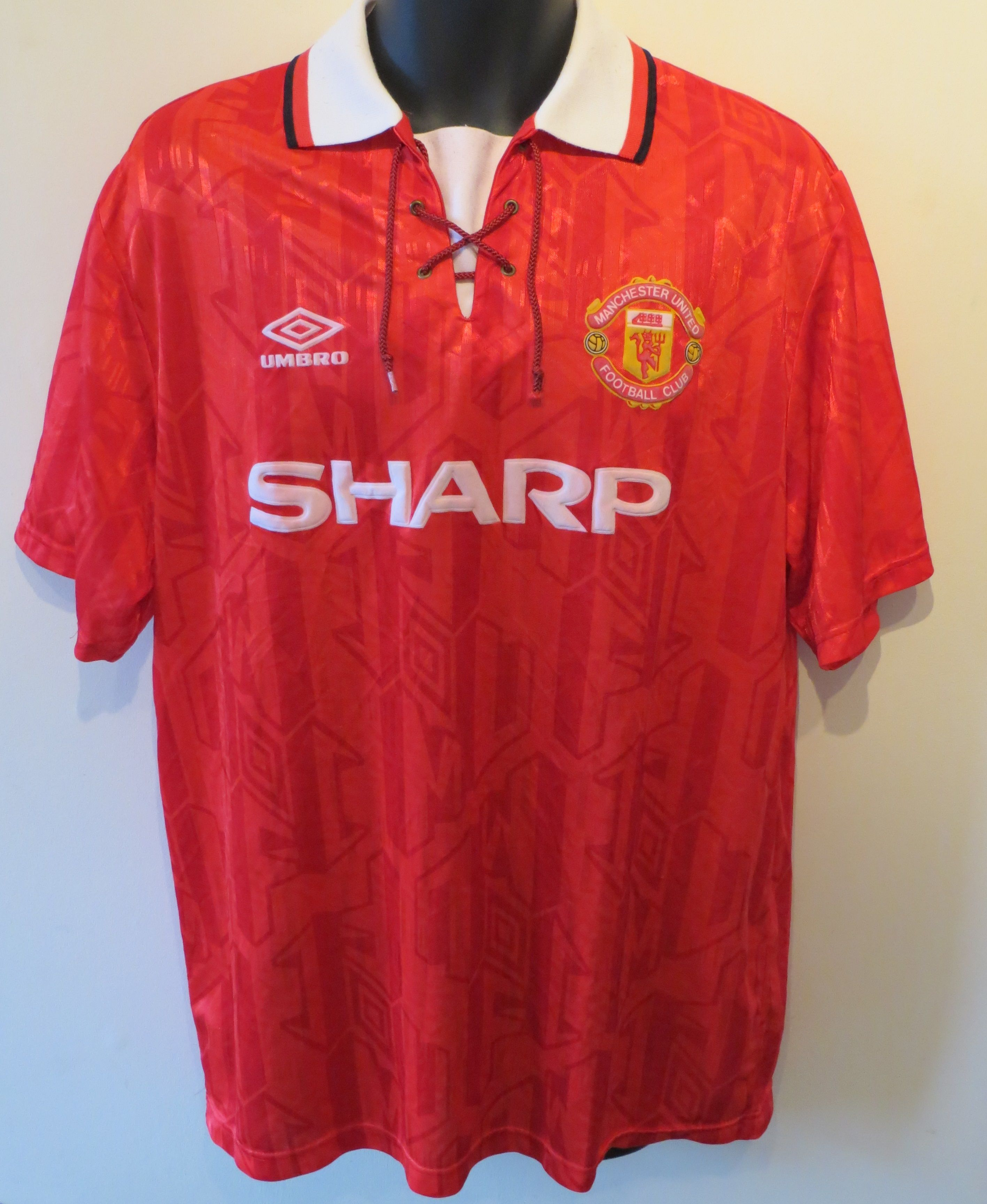 c1ca93dfc 90s Manchester United home shirt by Umbro.