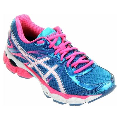 7a17c18bcfcf2 Tênis Asics Gel Flux 2 - Azul e Rosa | fitness | Asics, Gym workouts ...