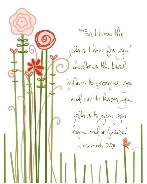 For I Know The Plans I Have For You Flowers8 By 10 Print