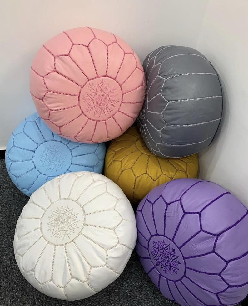 Moroccan floor poufpouffe