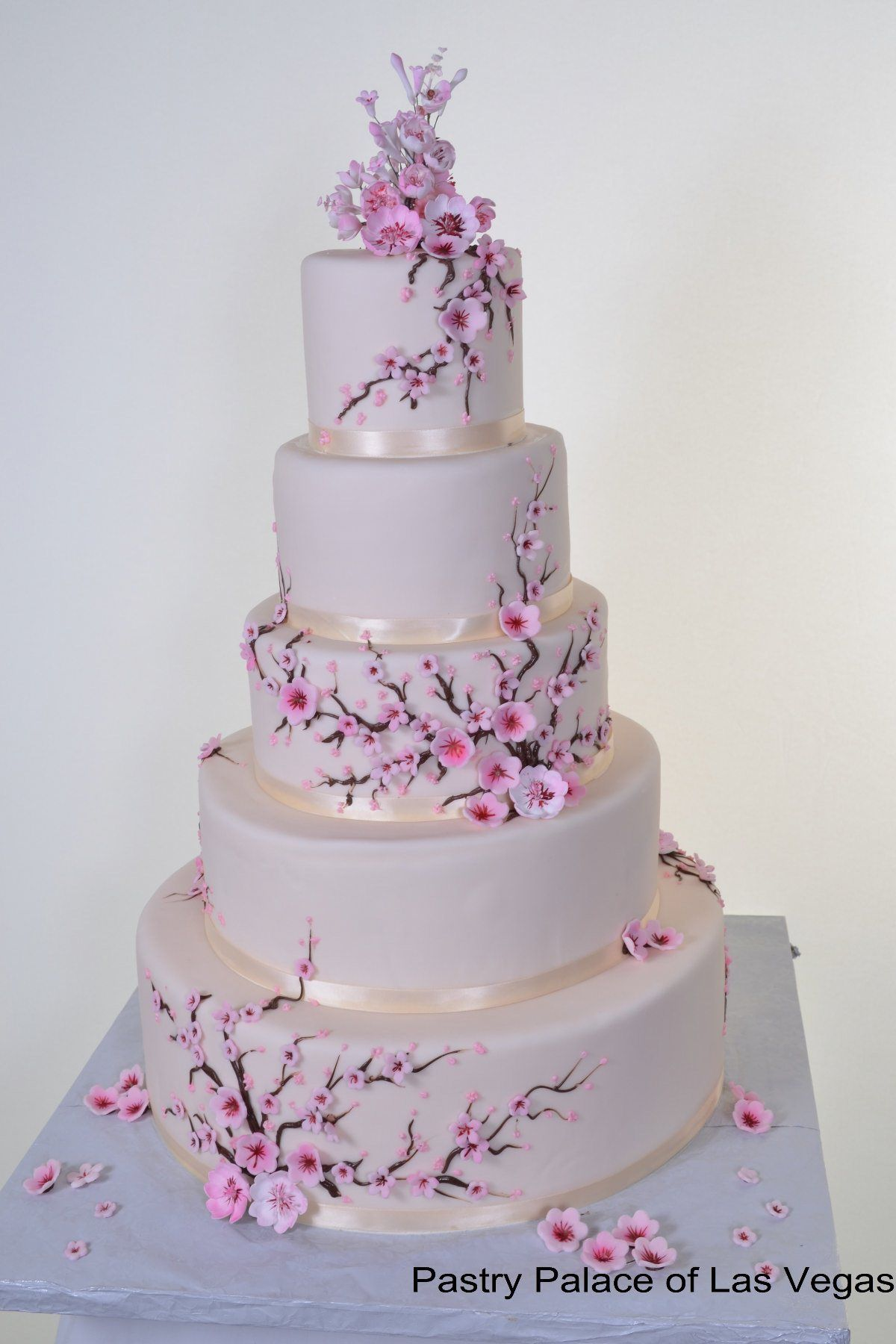 Beautiful Cherry Blossom Wedding Cake Vegas Wedding Cakes Cherry Blossom Cake Cherry Blossom Wedding Cake