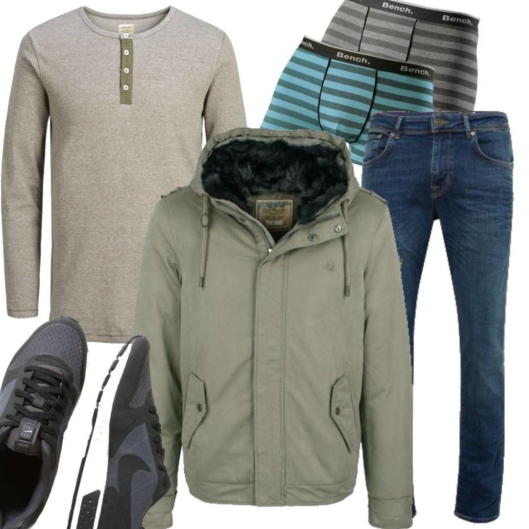 Herren Men DreiMaster Anorak Outfit grün für zum DREIMASTER O08kXnwP