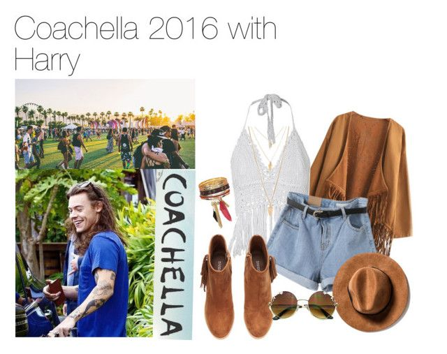 """""""Coachella 2016 with Harry"""" by fancyx1dniall ❤ liked on Polyvore featuring Chicnova Fashion, H&M, Forever 21, love, harrystyles, coachella and onedirectionoutfits"""