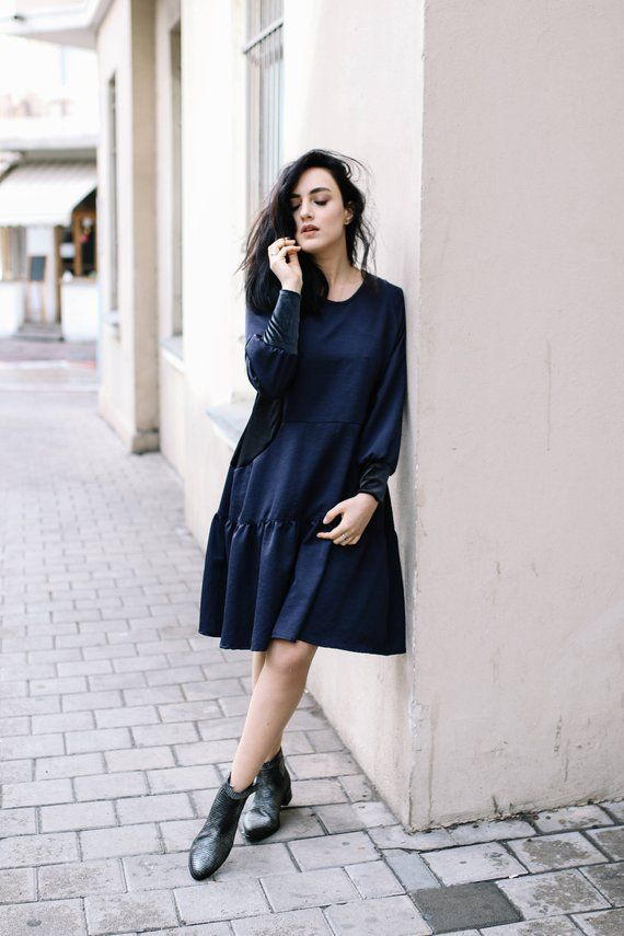 93fa523463c1 Long Sleeves Oversized Dress