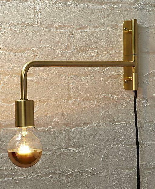 G25 40w Gold Light Bulb Reviews Cb2 Gold Light Bulb Brass Wall Sconce Modern Wall Sconces