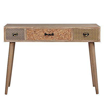 Viva Home Konsolentische Holztisch Beistelltisch, 104 x 40 x 75 cm ...