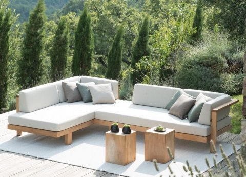 Tribu Pure Corner Garden Sofa Garden Sofa Outdoor Furniture Design Resin Patio Furniture