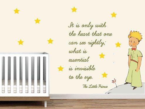Little prince exupery decal it is only with the heart that one can see rightly