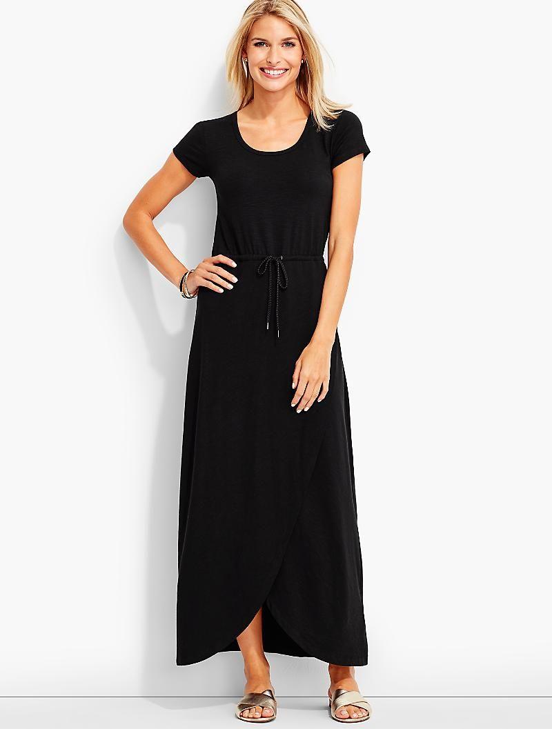 Tulip Wrap Maxi Dress Talbots Maxi Wrap Dress Maxi Dress Dresses [ 1057 x 800 Pixel ]