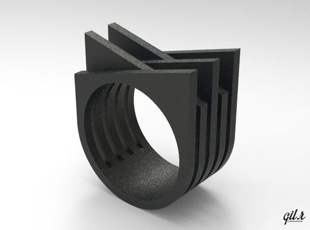 Iso - 3d printed Jewelry Rings by gilrdesign.