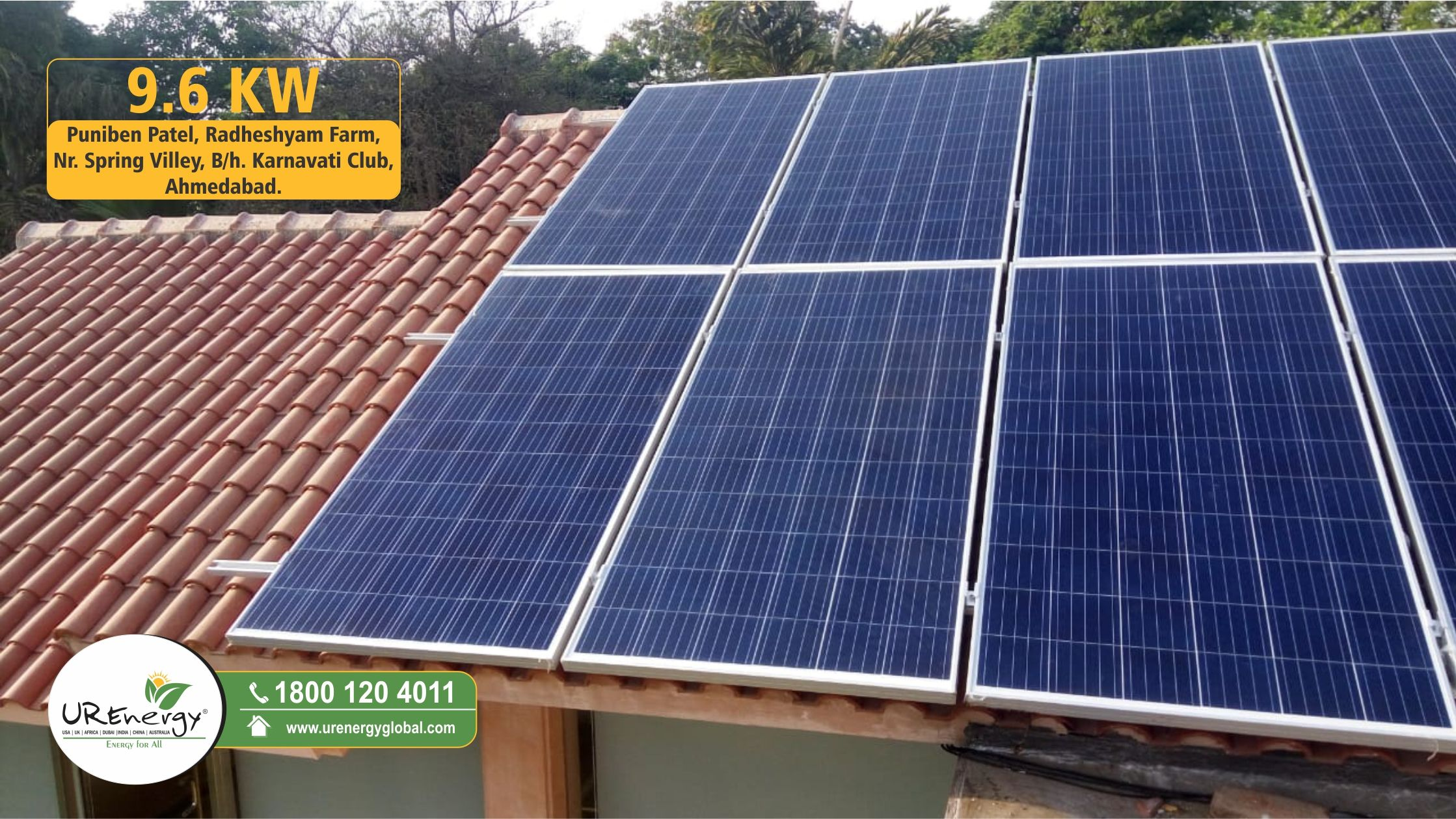 9 6 Kw Residential Solar Panel Inverter Project Completed By U R Energy India Pvt Ltd Commercial System For More