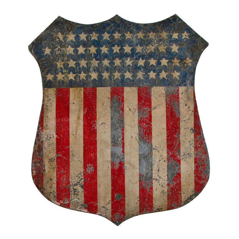 Painted American Patriotic Shield I Have What I Assume Is A Very
