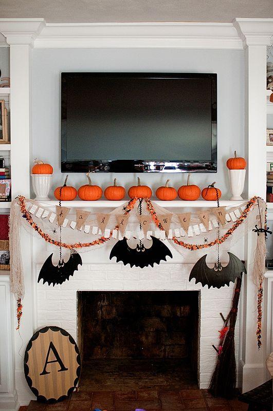 Top 16 Elegant Mantel Decor For Halloween \u2013 Easy Interior Holiday