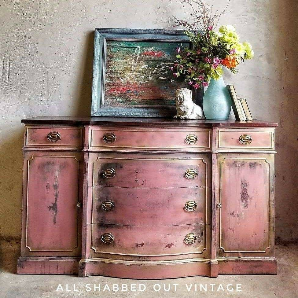 Painting Furniture Idea Pink Painted Furniture Layered Chalk