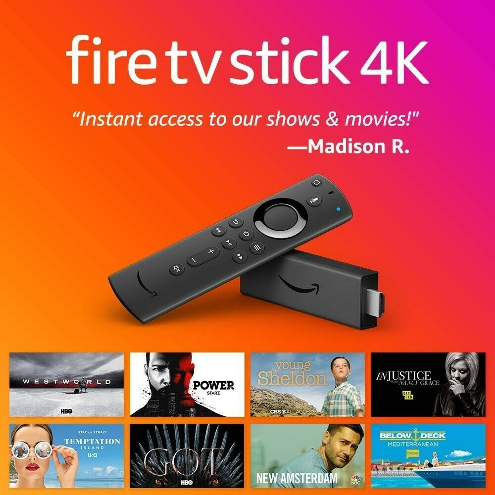 Fire TV streaming stick with Alexa built in, 4K Ultra HD