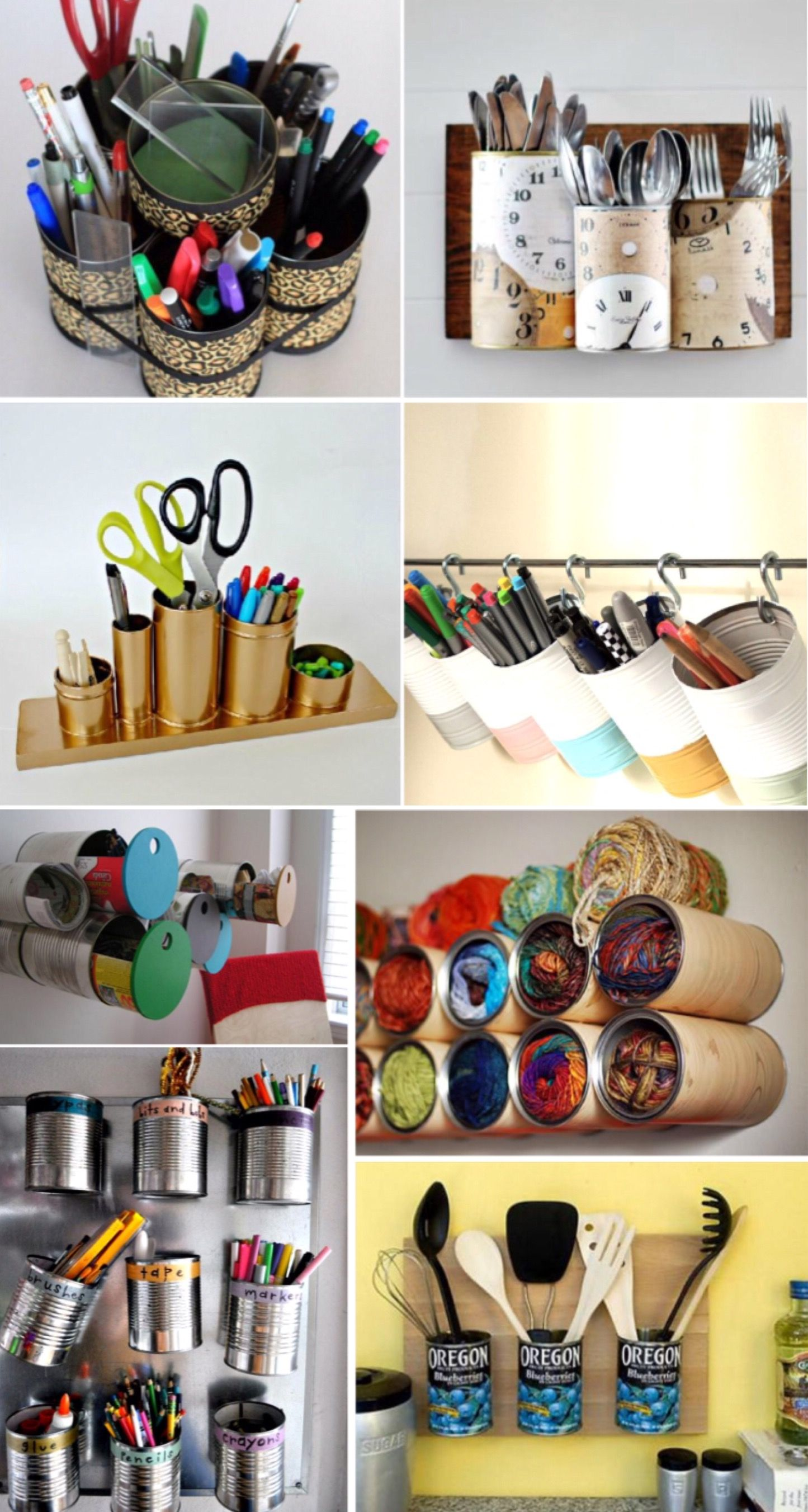 Tin Can Organizer 8 Ways To Decorate Cans Diy Recycle
