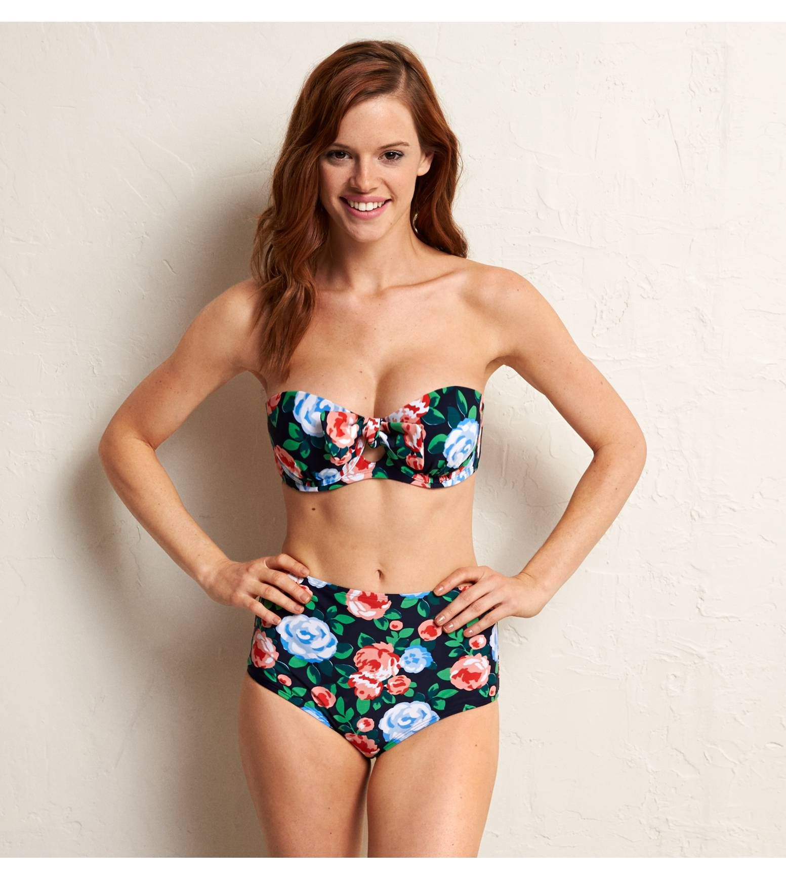 Navy Aerie Holly Keyhole Bikini Top