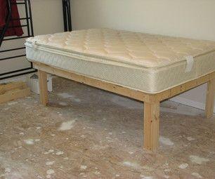 Cheap Easy Low Waste Platform Bed Plans Diy Platform Bed Diy Twin Bed Frame Cheap Bed Frame