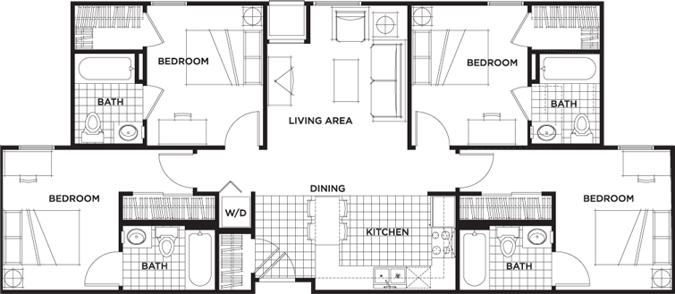 Floor Plans University Village At Sweethome Student Apartments In Amherst Ny Apartment Floor Plans Student Apartment Floor Plans