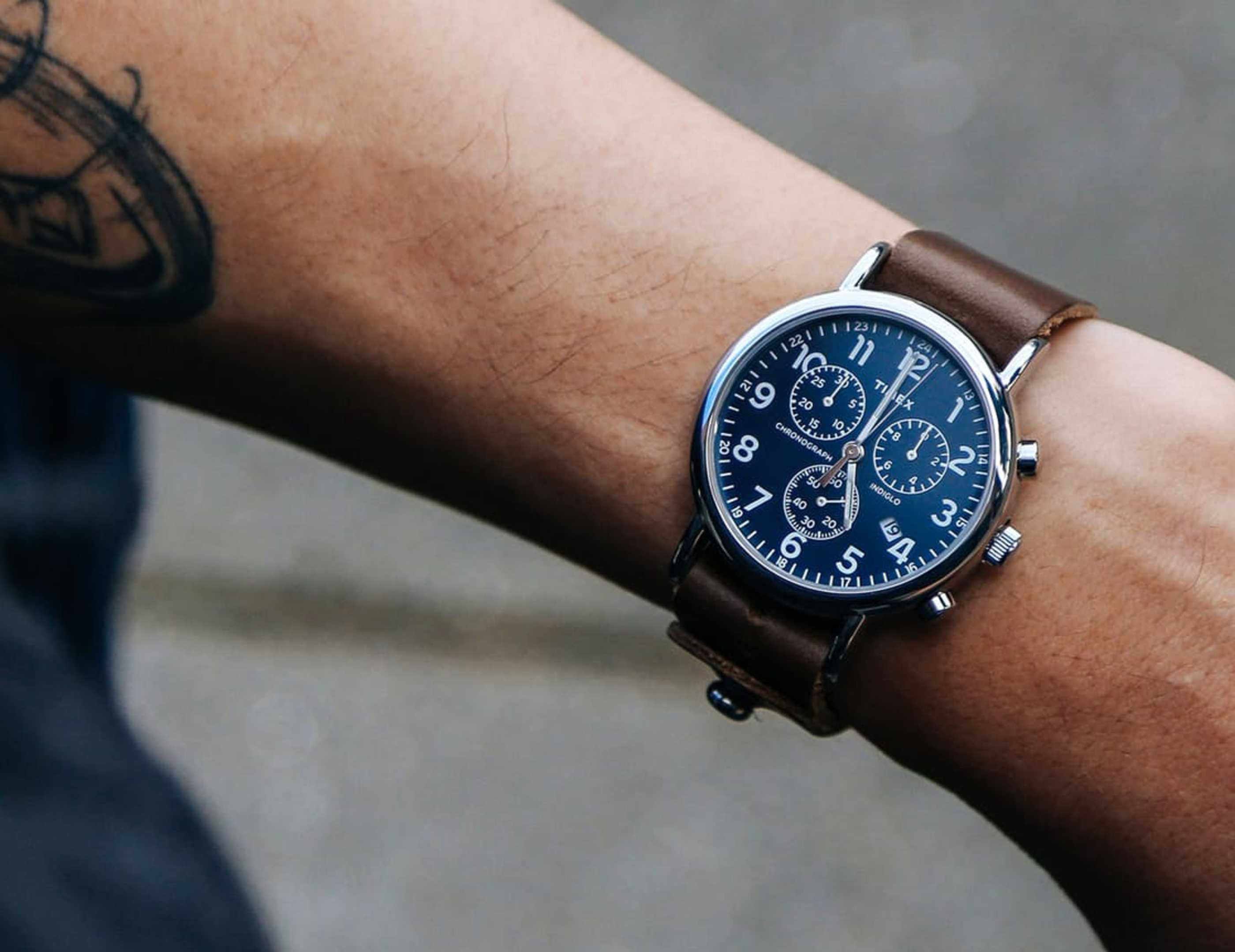 3e57cfd3e1d2 Horween Leather Elevates the Timex Weekender Chronograph