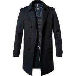 Photo of Strellson Herren Mantel Coat, Baumwolle wasserabweisend, navy blau Strellson