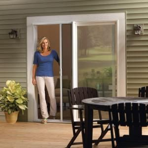 Odl 36 In X 80 In White Retractable Screen For Sliding Or