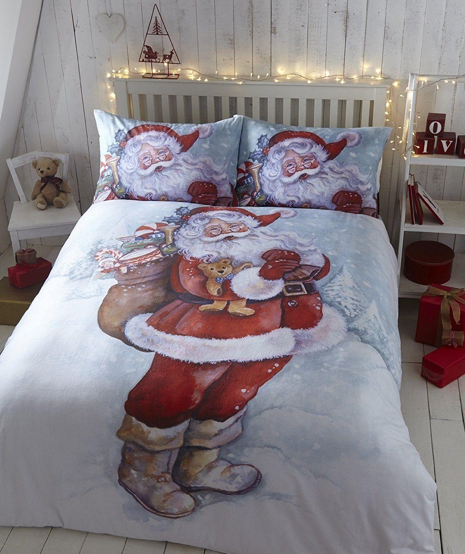 Lustige #Bettwäsche Vater Weihnachten Feinbiber Bettwäsche Single ...