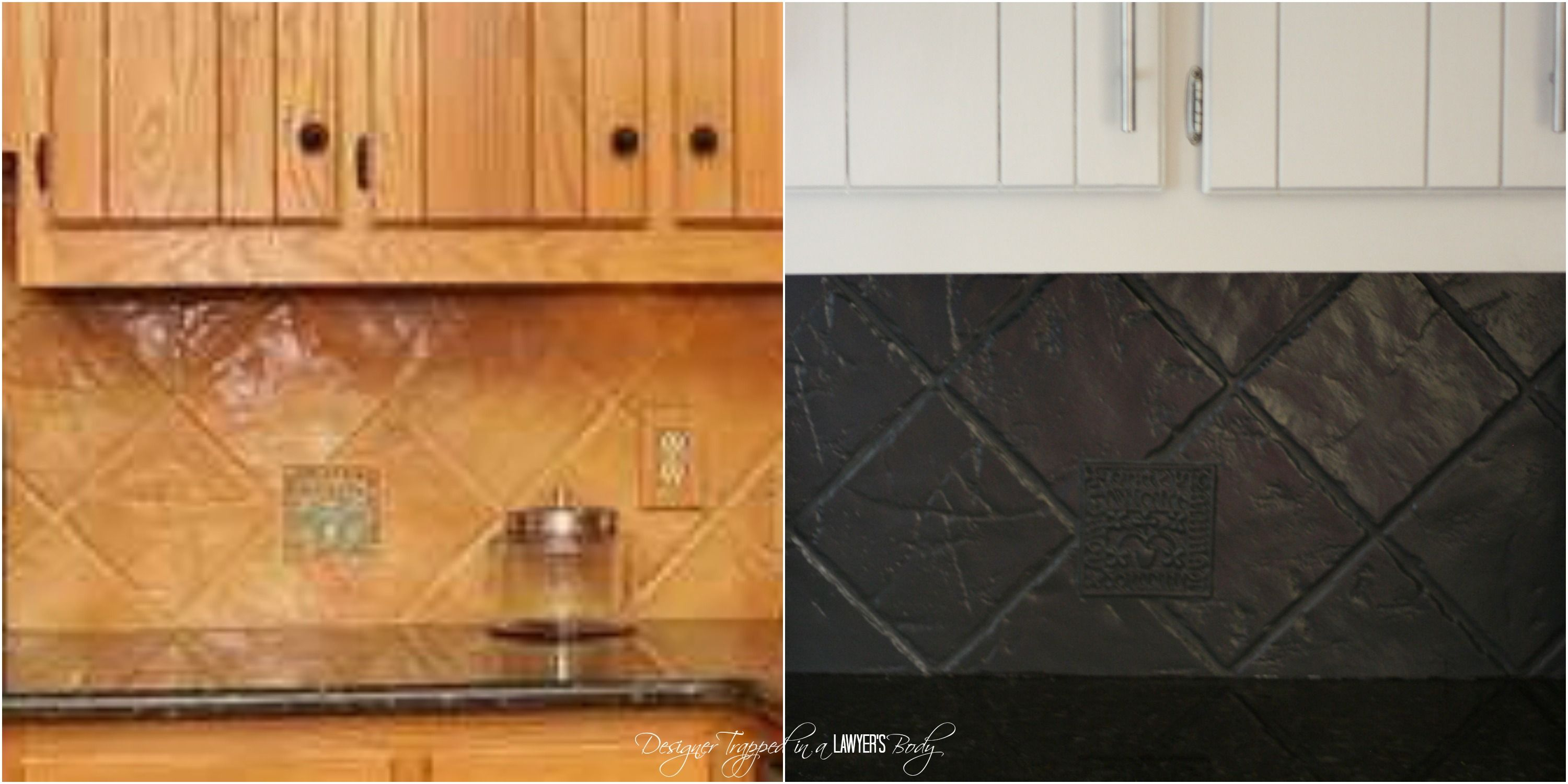 How to paint a tile backsplash my budget solution kitchens you can paint your tile backsplash talk about a thrifty update full tutorial by designer trapped in a lawyers body dailygadgetfo Image collections