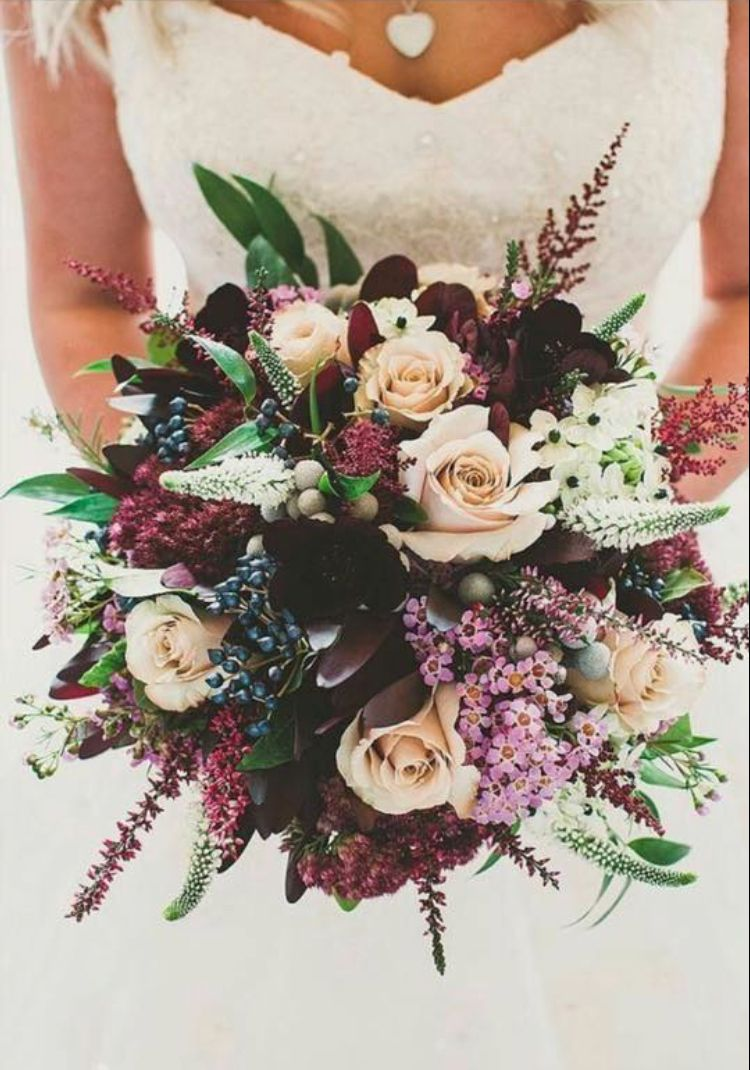 Like that each type of flower is a little different and that it s not all 1  color (love the mix of deep purple and light roses) 7a278cb31de5
