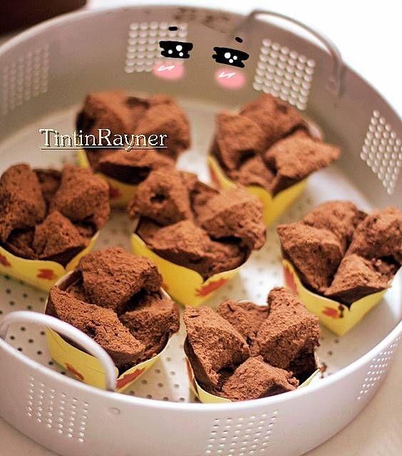 Resep Brownies Kukus Mekar 100 Anti Gagal Ny Liem By Tintin Rayner Food Drinks Dessert Brownies Kukus Steam Cake Recipe
