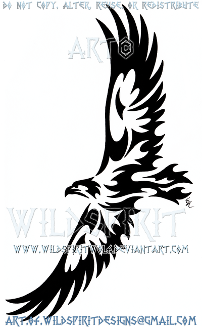 e06f17a1a Soaring Eagle Tribal Design by WildSpiritWolf on DeviantArt | tatoo ...