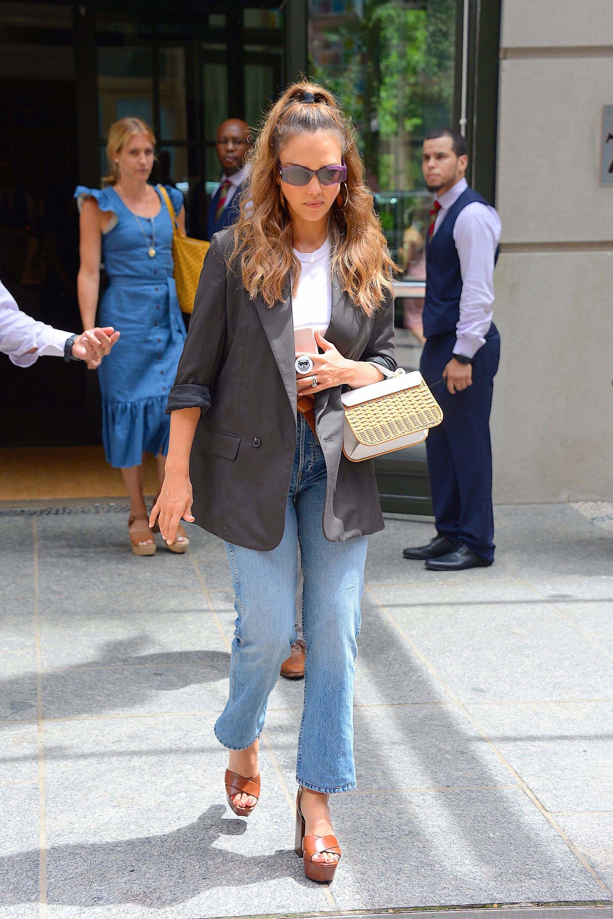 74a6d318862 17 Celebrity Fall Denim Looks That Feel So On Right Now