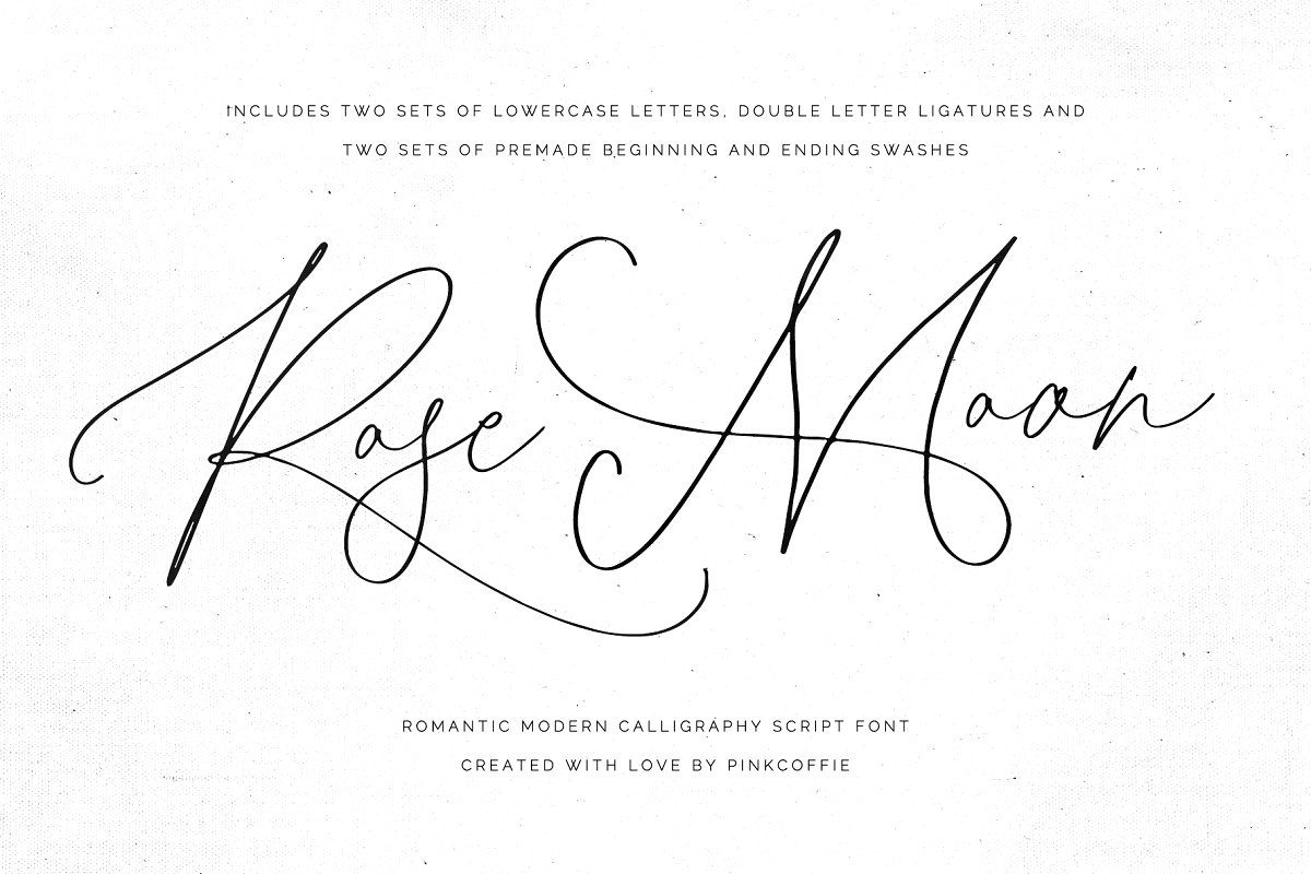 Download Rose Moon | Modern Calligraphy Font in 2020 | Modern ...