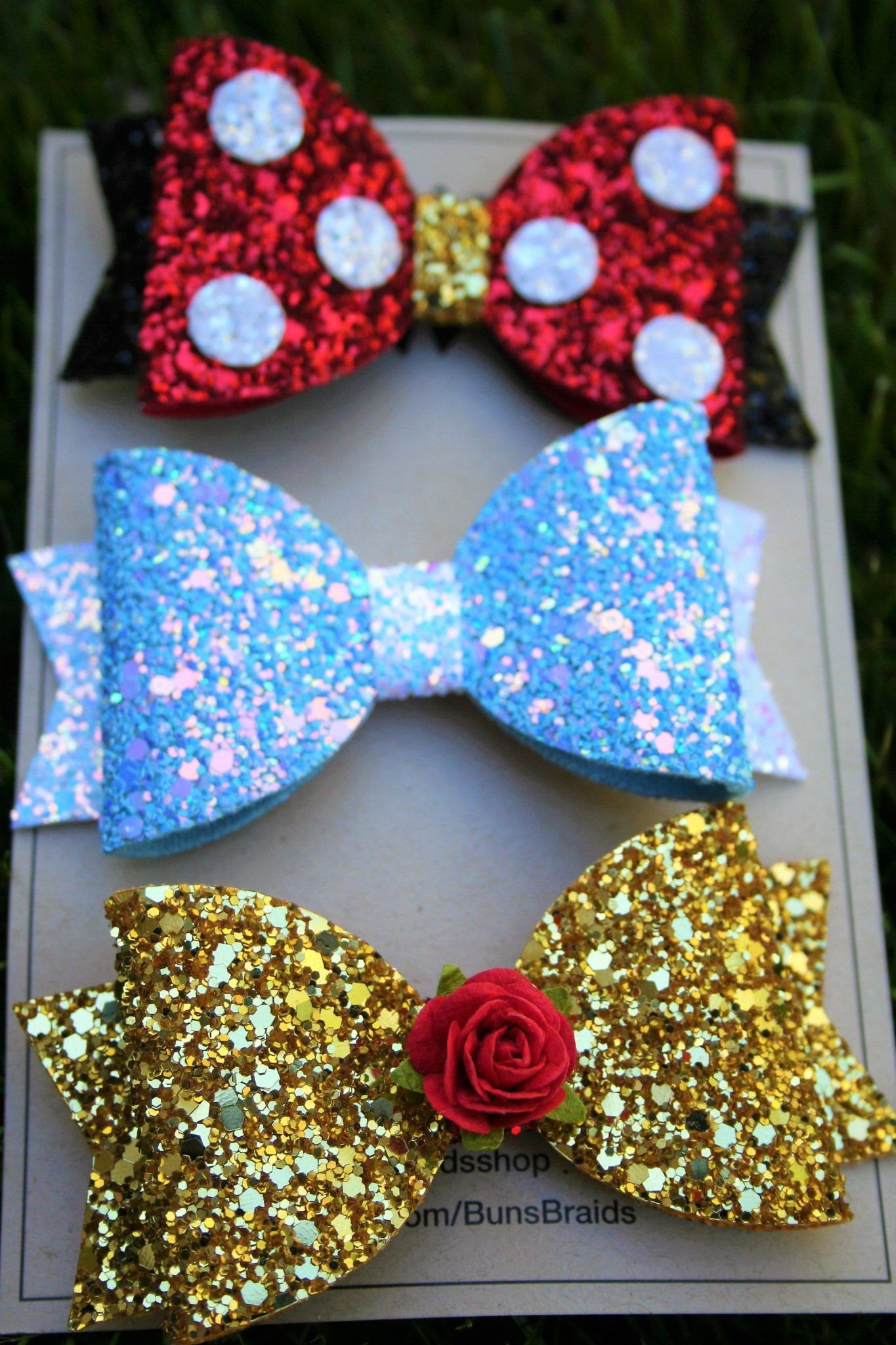 Etsy shop feature: Buns and Braids hair bows - Disney in your Day